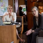 Kitty (Kathleen Robertson) talks with Walsh (Amy Morton) on the bus