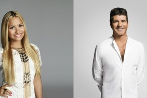 Simon Cowell and Demi Lovato