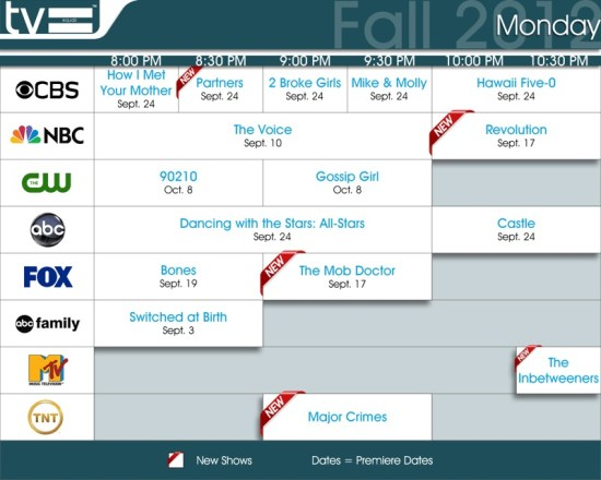 TV Equals Fall 2012 Monday