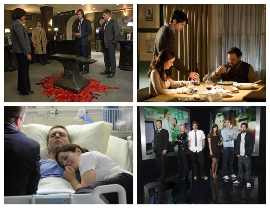Supernatural, Grimm, Saving Hope, Chuck