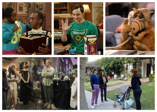 The Cosby Show, The Big Bang Theory, Alf, Modern Family, The Neighbors