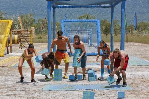 """Play or Go Home"" -- Michele Fitzgerald, Cydney Gillon, Nick Maiorano, Neal Gottlieb, Debbie Wanner and Kyle Jason during the sixth episode of SURVIVOR KAOH: RONG -- Brains vs. Brawn vs. Beauty. The show airs, Wednesday, March 23 (8:00-9:00 PM, ET/PT) on the CBS Television Network. Photo: Robert Voets /CBS Entertainment ©2016 CBS Broadcasting, Inc. All Rights. Reserved."
