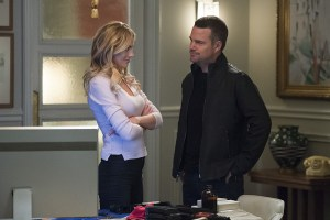 """""""Matryoshka, Part 2"""" -- Pictured: Bar Paly (Anastasia """"Anna"""" Kolcheck) and Chris O'Donnell (Special Agent G. Callen). Callen, Sam and Anna (Bar Paly) are in Russia where they craft a plan to break her father and his CIA agent companion out of prison and in Los Angeles Kensi and Deeks take Eric into the field on an assignment. Plus, Special Agent G. Callen finally learns what the G in his name stands for, on part two of a special two part episode of NCIS: LOS ANGELES, Monday, Feb. 22 (9:59-11:00, ET/PT), on the CBS Television Network. Photo: Neil Jacobs/CBS ©2016 CBS Broadcasting, Inc. All Rights Reserved."""