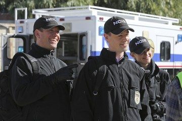 """Déjá Vu"" -- While investigating the murder of a seaman who was set to testify before a grand jury, the NCIS team uncovers the resurgence of an international human-trafficking ring, on NCIS, Tuesday, Jan. 19 (8:00-9:00 PM, ET/PT), on the CBS Television Network. Pictured left to right: Michael Weatherly, Sean Murray and Emily Wickersham Photo: Michael Yarish/CBS ©2015 CBS Broadcasting, Inc. All Rights Reserved"