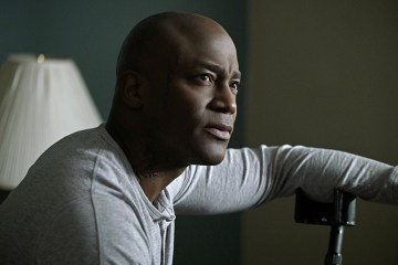 """""""Scope"""" -- The NCIS team re-examines an ambush on a group of Special Ops snipers in Iraq after an American couple is attacked in the same area six months later. When Gibbs discovers he needs the account of the lone survivor, Marine Gunnery Sergeant Aaron Davis (Taye Diggs, pictured), he tries to connect with the wounded warrior who is being treated for PTSS at Walter Reed Medical Center, on  the 300th episode of NCIS, Tuesday, March 15 (8:00-9:00 PM, ET/PT), on the CBS Television Network. Photo: Jace Downs/CBS ©2016 CBS Broadcasting, Inc. All Rights Reserved"""