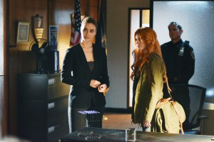 "SHADOWHUNTERS - ""Major Arcana"" - With the knowledge of where The Mortal Cup is, Clary and the team race to get it before anyone else beats them to it in ""Major Arcana,"" an all-new episode of ""Shadowhunters,"" airing  Tuesday, February 23rd at 9:00 – 10:00 p.m., EST/PST on Freeform, the new name for ABC Family.(Freeform/John Medland) LISA MARCOS, KATHERINE MCNAMARA"