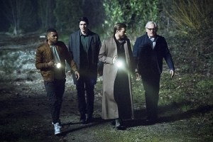 "DC's Legends of Tomorrow -- ""Leviathan""-- Image LGN113a_0365b.jpg -- Pictured (L-R): Franz Drameh as Jefferson ""Jax"" Jackson, Brandon Routh as Ray Palmer/Atom, Arthur Darvill as Rip Hunter and Victor Garber as Professor Martin Stein -- Photo: Dean Buscher/The CW -- © 2016 The CW Network, LLC. All Rights Reserved."