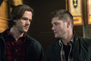 "Supernatural -- ""Hell's Angel"" -- ImageSN1118A_0142.jpg -- Pictured (L-R): Jared Padalecki as Sam and Jensen Ackles as Dean -- Photo: Liane Hentscher /The CW -- © 2016 The CW Network, LLC. All Rights Reserved"