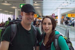 """""""Krakow, I'm Gonna Get You""""--Justin (left) and Diana (right) make their way to the next location on THE AMAZING RACE, Friday, Nov. 13 (8:00-9:00 PM, ET/PT) on the CBS Television Network. Photo: CBS ©2015 CBS Broadcasting, Inc. All Rights Reserved"""