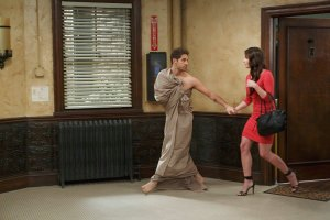 """BABY DADDY - """"One Night Stand-Off"""" - Ben's latest romantic escapade lands him in big trouble on an all-new episode of """"Baby Daddy,"""" airing Wednesday, June 17th, 2015 at 8:30PM ET/PT on ABC Family. (ABC Family/Bruce Birmelin) JEAN-LUC BILODEAU, HILTY BOWEN"""