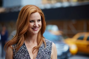 "SUITS -- ""Priviledge"" Episode 506 -- Pictured: Sarah Rafferty as Donna Paulsen -- (Photo by: Shane Mahood/USA Network)"