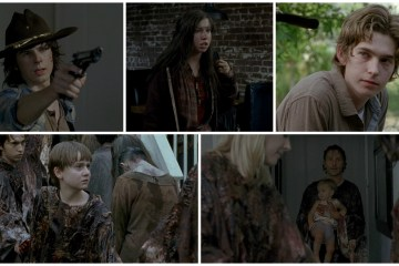 Carl, Rick, Enid, Sam, Judith - The Walking Dead