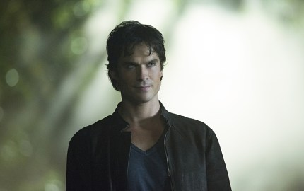 "The Vampire Diaries -- ""Hello Brother"" --Image Number: VD801b_0380.jpg -- Pictured: Ian Somerhalder as Damon -- Photo: Bob Mahoney/The CW -- © 2016 The CW Network, LLC. All rights reserved."