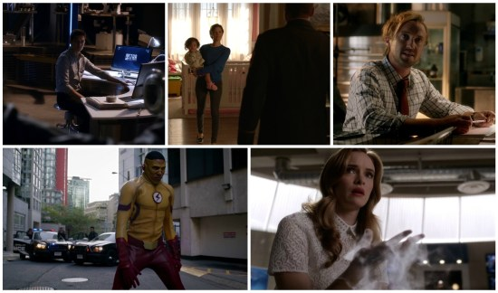 Caitlin, John, Lyla, Sara, Wally, Dante, Julian - The Flash
