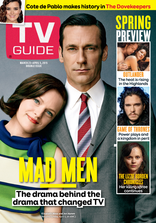 Mad Men  The Drama Behind the Drama That Changed TV   The official     Cover photo of Elisabeth Moss and Jon Hamm by Jeff Lipsky for TV Guide  Magazine