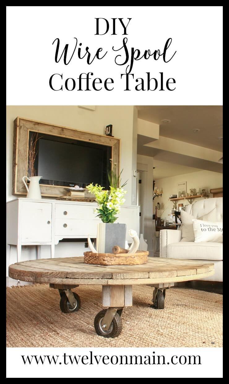 16 diy coffee table ideas with a twist 11 wire spool coffee table geotapseo Image collections