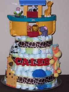 noah's ark cake twin baby shower