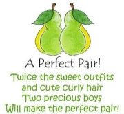 pear twin baby shower