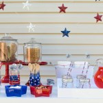 Set up a simple ice cream bar for 4th of July