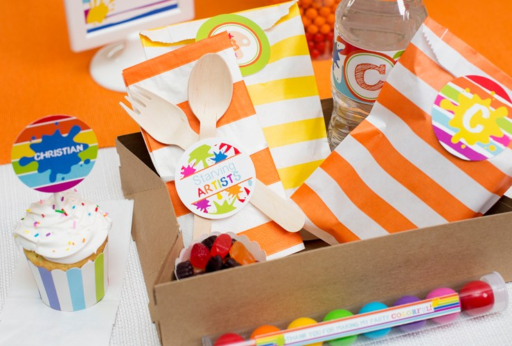 {Submission} Art Studio Themed Birthday Party