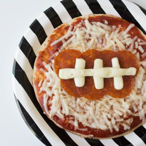 Mini Game Day Football Pizza