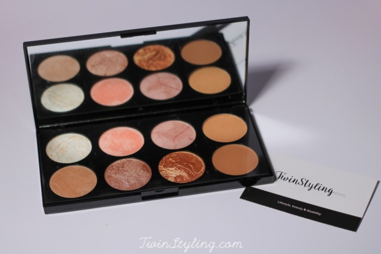 ultra palette blush in golden sugar make-up revolution