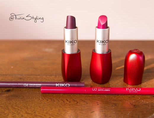 Intense Colour Lip Kit - Kiko - surreal mauve provocative burgundy