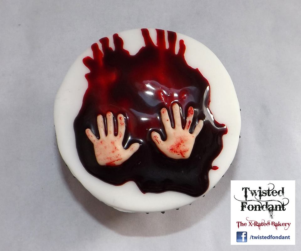 Bloody Hand Cupcakes