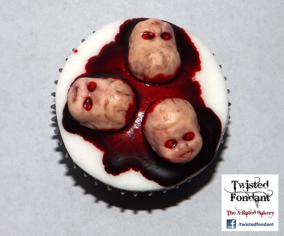 Demon Baby Head Cupcakes
