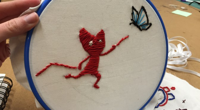 Stabbing Things with Needles – Twisted Stitches
