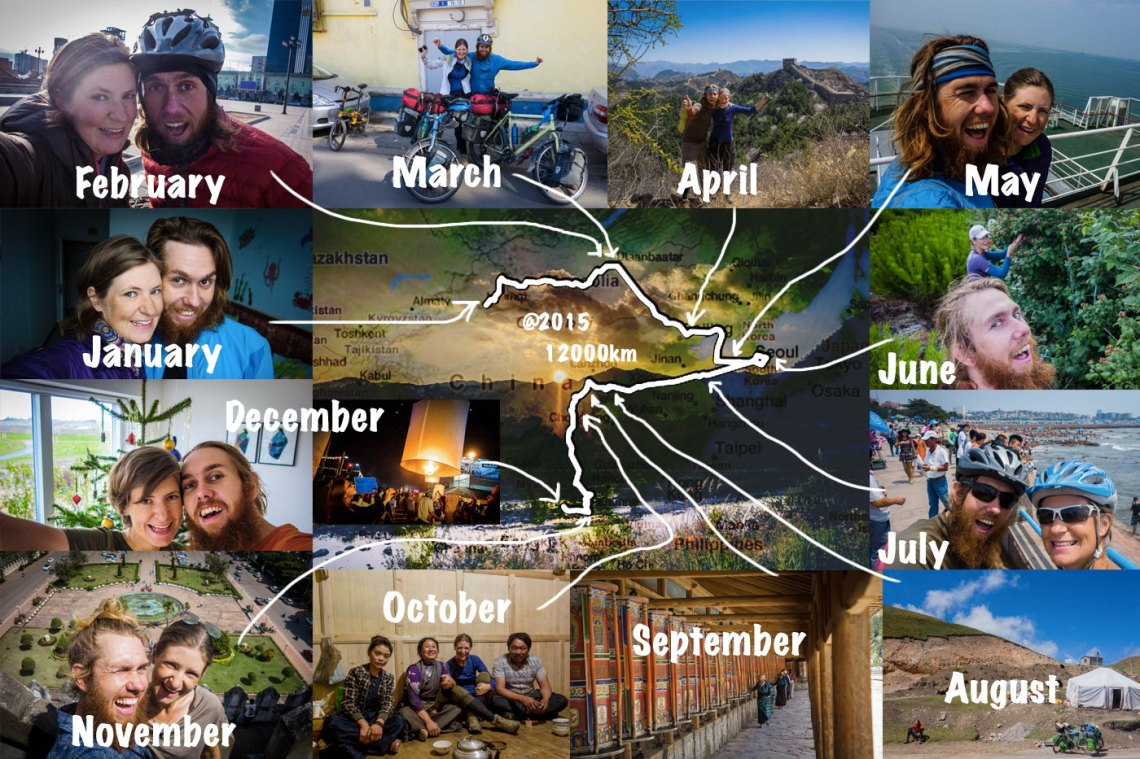 2015 – Year End Review – Bicycle Touring