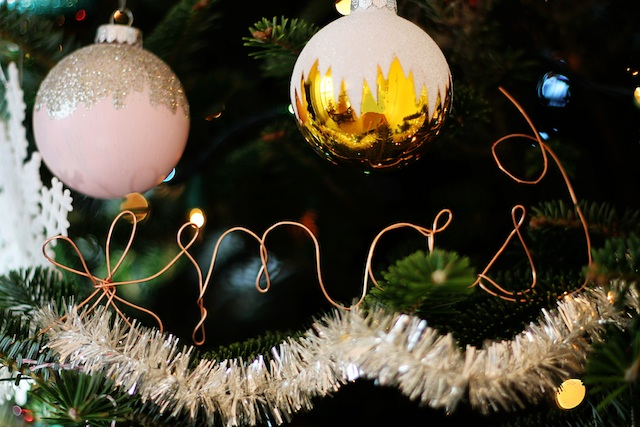 Copper wire ornament xmas | Two Delighted