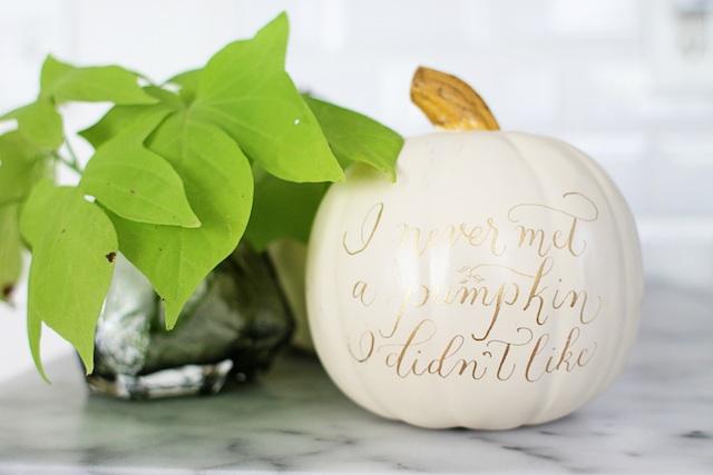 calligraphed pumpkin giveaway blog