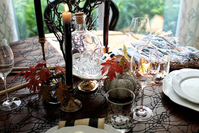 witch tablescape broom blog