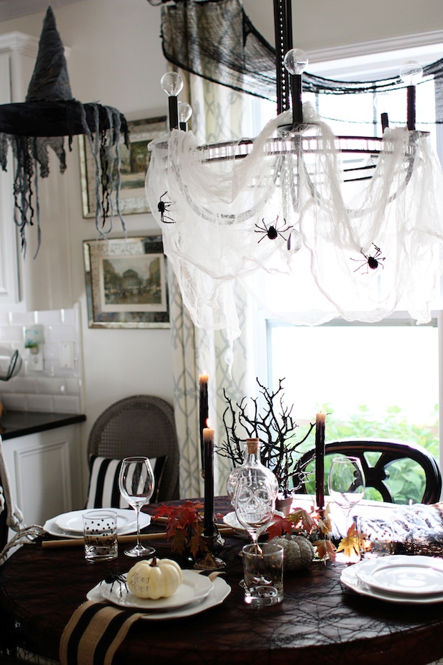 witch tablescape with hat blog
