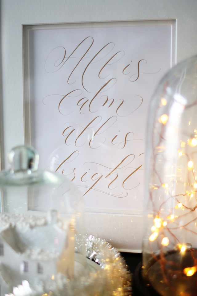 Megan Christmas 2014 calligraphy | Two Delighted