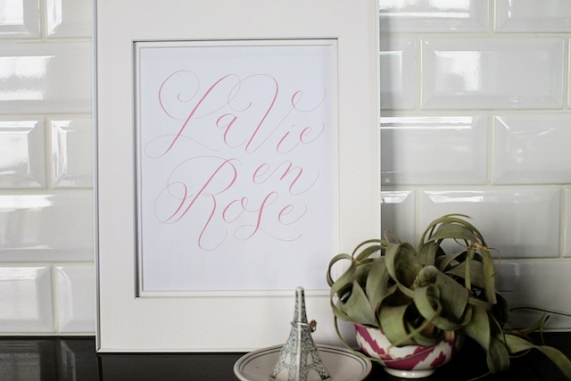 la vie en rose printable blog