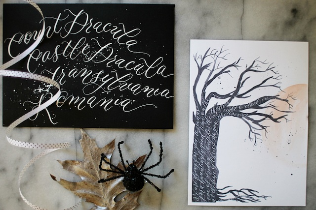 Halloween invite layout blog