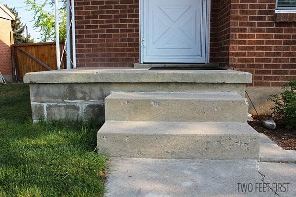 Twofeetfirst fixing chipped concrete steps - Refurbish stairs budget ...