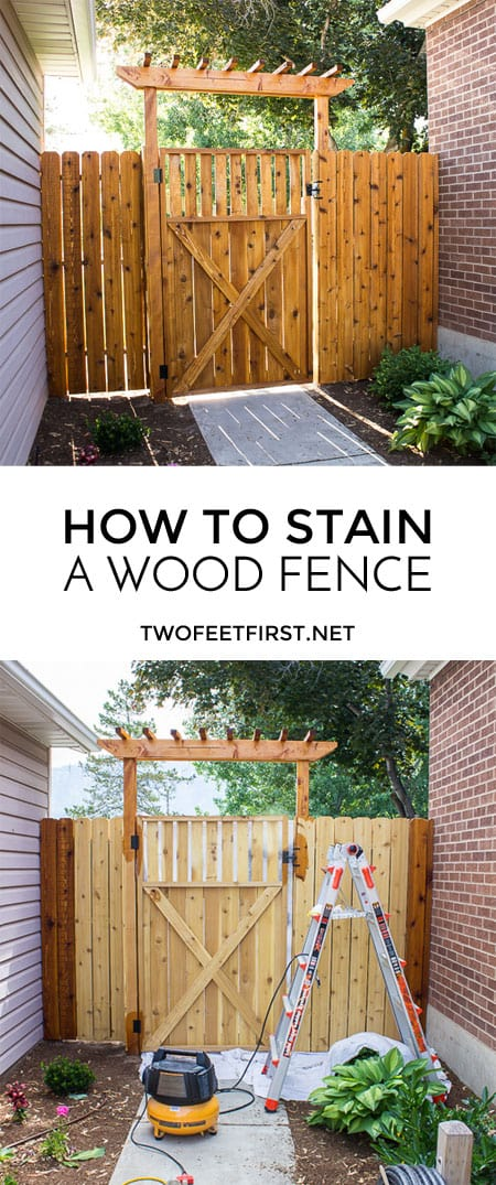 Twofeetfirst How To Stain A Fence With Ready Seal