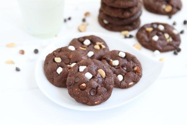 Paleo Chocolate Rocky Road Cookies