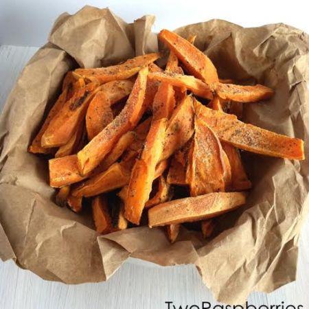Healthy Oil Free Sweet Potato Frys