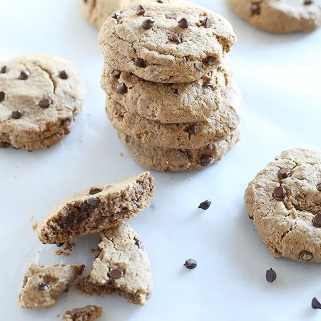 1 Bowl Chocolate Chip Almond Butter Cookies 4