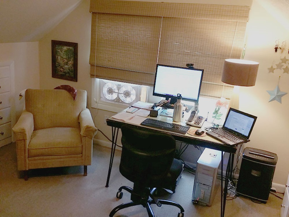 home office remodel. home office desk before craft studio and remodel e