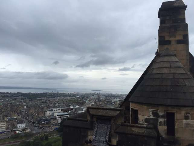 """One of the draws of the castle is the amazing views of the city of Edinburgh. - """"Experiencing History at Edinburgh Castle"""" - Two Traveling Texans"""