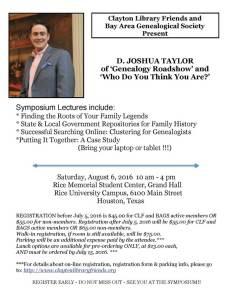 Josh Taylor Symposium at Clayton 2016