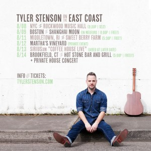 Tyler Stenson East Coast tour