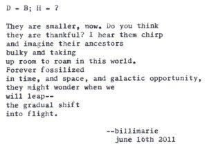 """""""D > B ; H > ?"""" by billimarie typewriter poetry"""