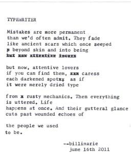 """""""Typewriter"""" by billimarie"""