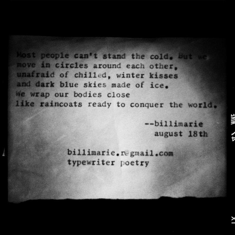 """""""Winter Kisses"""" by billimarie (typewriter poetry)"""